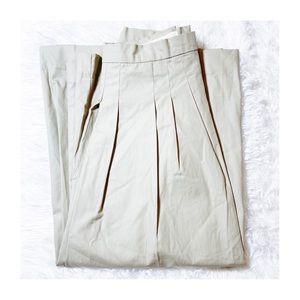 Michael Kors Khaki Pleated Skirt SZ14 Mint